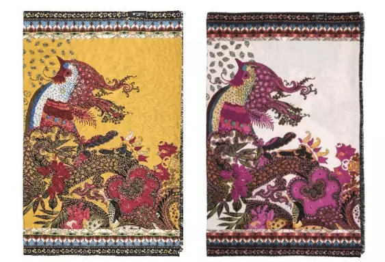 Chinese Zodiac - etro phoenix scarfs, should be rooster